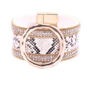 ✨Coming Soon✨ Rhinestone & Snakeskin Bracelet